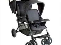 Black Kolcraft double stroller. Great condition. Has