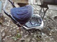 I have a blue and white Kolcraft Tiara Stroller, its