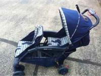Folding double stroller. Clean, from a non-smoking, pet