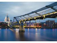 London's Millennium Bridge Mural is a modern art