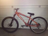 kona cowan hard tail mountain bike. very well taken