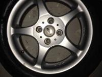Set of 4 Konig rims with tires 15x6.5 4/100 bolt