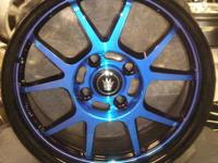 "KONIG WHEELS RETRACK 15"" graphite with machined lip ,"