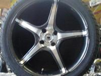 "KONIG WHEELS TROUBLE 18"" GRAPITE WITH MACHINED FACE,"
