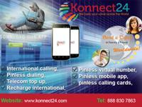 Konnect24 provides long distance international pinless