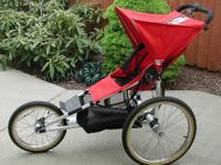KOOL STOP KOOL STRIDE JOGGING STROLLER ~ Red fabric,