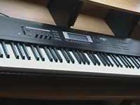 This is a Korg 88 weighted key very powerful keyboard