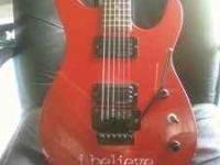 Got a red Kramer Baretta with neck threw reverse head