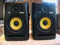 A Pair KRK Rokit Powered 5 Generation 2 Powered Studio