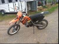 2002 KTM Enduro Series Dirt Bike that is in excellent