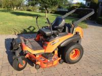 "2007 Kubota ZD231 zero turn mower 52"" cut Orignal owner"