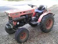1979 Kubota tractor...4 ft disc...box blade and