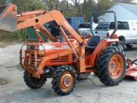 Kubota L2850 4wd tractor, 34hp 4-cylinder diesel, 1800