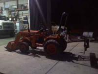 Kubota B1550 4x4 tractor, 20hp diesel, quick detach