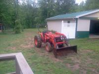 2001 Kubota L3600 4x4 with Woods 165 loader Sell or