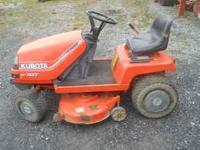 this is a lawn tractor, a 15 horsepower Kubota with a