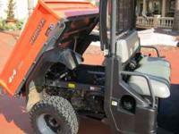 LIKE NEW, 900 ATV KUBOTA, DUMP BED, EXTERNAL HYDROLICS,