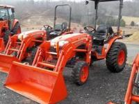 B3200HSD 4X4 Tractor With Loader and Canopy, 22HP, and