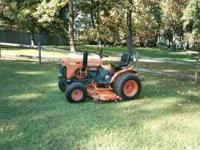 Kubota B7100 hst 4 wheel drive and 5 foot belly mower.