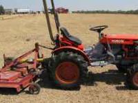 Kubota #B7100 HST 4x4 Tractor w/ 5' Shredder $4500 OBO