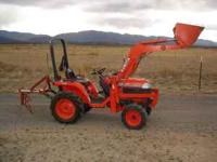 Kubota B7300 4x4 diesel 16.5HP tractor with 3 point