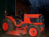 2005 Kubota B7510HST with 60in mower deck 180 hours,