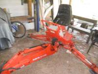 Kubota Backhoe BL4690B 3 point hitch attachment. Used