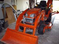 Kubota BX 24 Loader, Backhoe, Mower Wheel Weights, 4WD