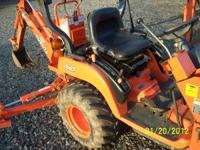 kubota BX22 loader and backhoe with 600 hours, new