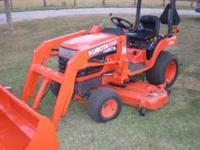 KUBOTA BX2200 WITH LOADER AND MOWER DECK 450 HRS RUNS
