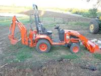 2008 Kubota BX25 236.5 hours front loader backhoe 6'