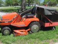 """Kobota Diesel Lawn Tractor/mower. 54"""" cut, hydraulic"""