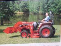 1999 Kubota Tractor Loader and mid mount mower and