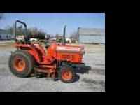 Kubota L 2550 Tractor, 2 wheel drive, 3 cylinder