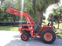 KUBOTA L 3010 HAS FRONT END LOADER, 4 WHEEL DRIVE,