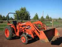 25HP 4x4, shuttle trans. ag tires, 400 hours, Kubota