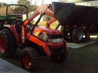 Kubota L3300 4 wheel drive, front end loader with 6 ft.