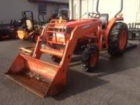 Kubota L3600 4WD with front loader. 1200 hours. In