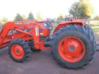 Kubota 60HP tractor, hyd. shuttle, loader with 6'