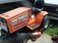 Kubota lawn tractor as is diesel 3cyl motor needs work