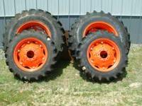SET OF 4 AG TIRES FOR 4WD KUBOTA M5040 OR M6040