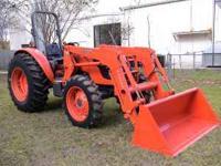 Kubota M7040SU Tractor, 70HP, 4WD, Kubota LA1153 Quick