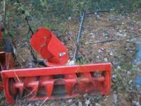 "Kubota 38"" single stage snowblower for T60 series lawn"