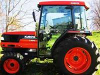 Kubota tractor, L4310hst, 43 hp, hydrostatic, 4 wheel
