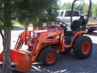 Kubota tractor, 120 hours with implements. Front