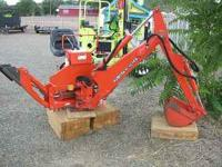Kubota Tractor Backhoe attachment 3 point hook-up. Runs