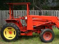 2 wd diesel kubota tractor with front loader. very