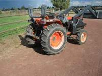 Kubota L3010 Grand L series tractor, ag tires, 5'
