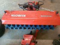 I have a like brand new Kubota power broom from a