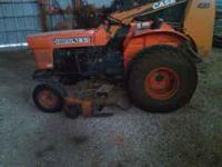Large Kubota Tractor Lawn Mower with 60in Deck Diesel